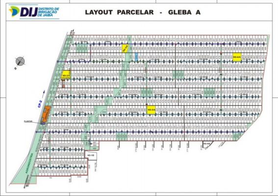 Gleba A - Layout Parcelar
