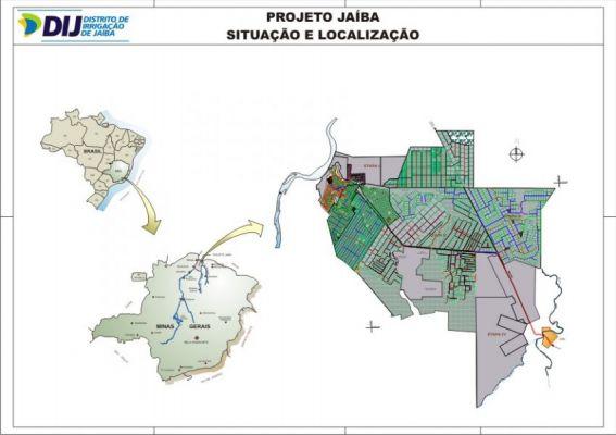 Projeto Jaiba - Situa��o e Localiza��o